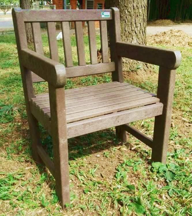 Ecowood Poltrona para jardim em madeira plástica