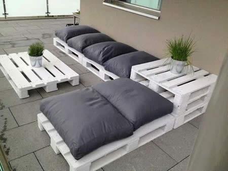Lounge feiito de pallets